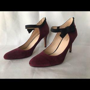 Nine West Gushing Heel Used Bergundy Size 12